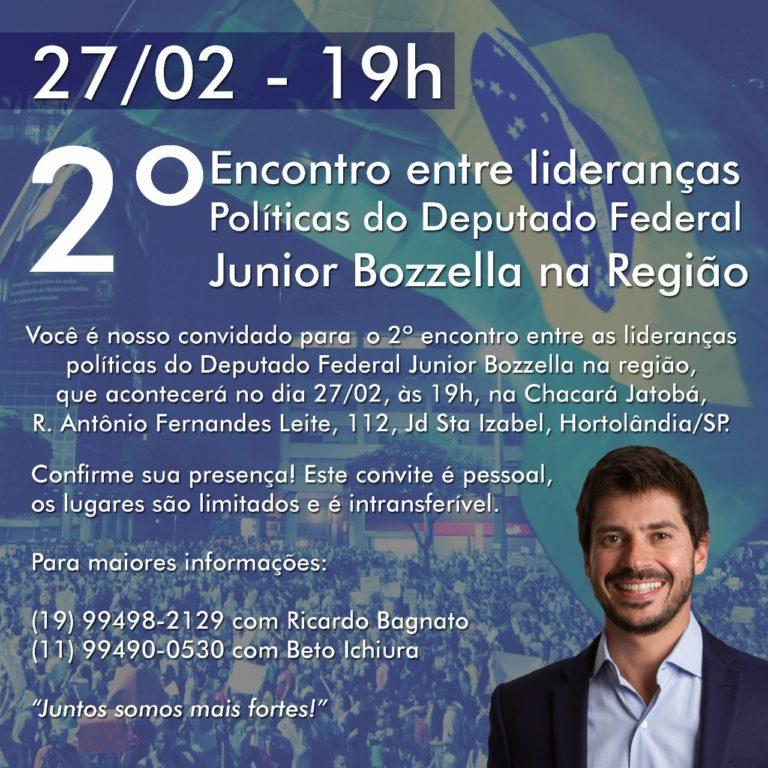 2º Encontro entre lideranças políticas do Deputado Federal Júnior Bozzella na Região aconteceu nesta quarta-feira