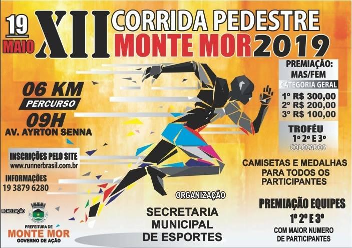 Prefeitura de Monte Mor organiza a 12ª Edição da Corrida do Pedestre