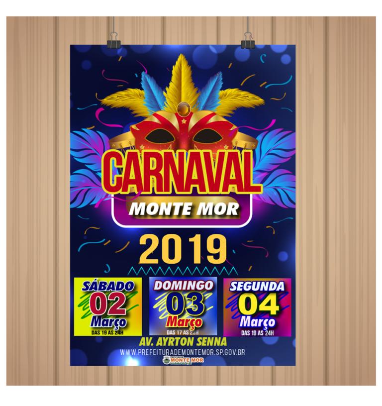 Vem aí o Carnaval de Monte Mor. Confira a programação!