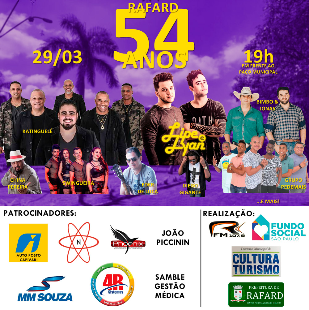 Show da Cidade terá apresentação do grupo Katinguelê em Rafard