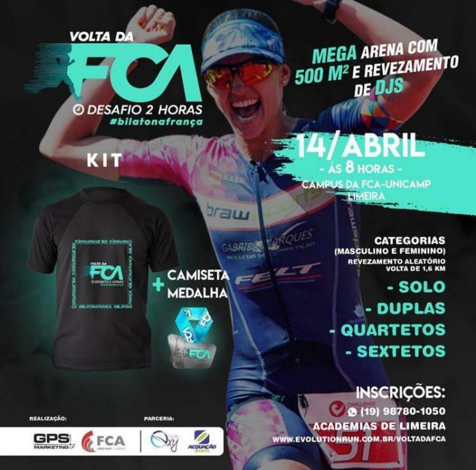 "Corrida ""Volta da FCA – Desafio 2 Horas"" acontece no próximo domingo"