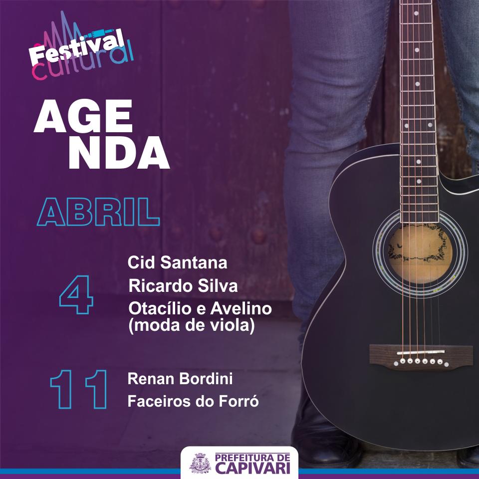 Festival Cultural traz apresentações sertanejas no mês de abril