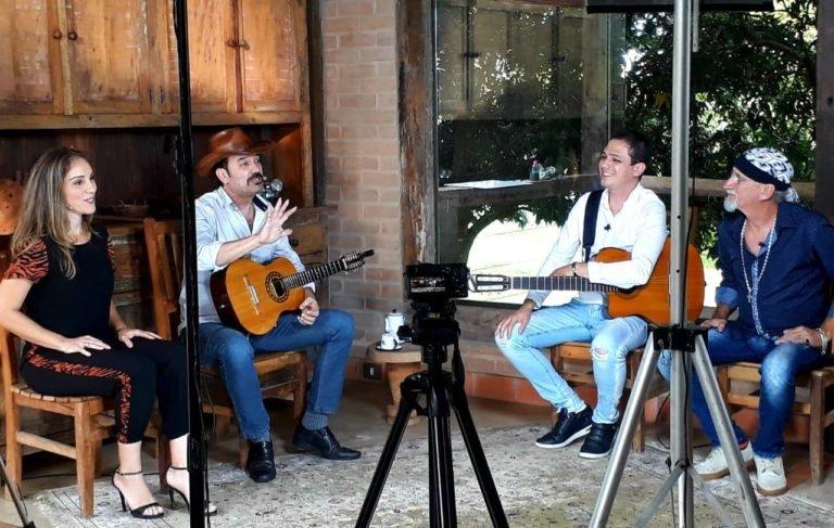 Eder de Luca e Zé Grillo apresentam-se em programa da rede Bandeirantes