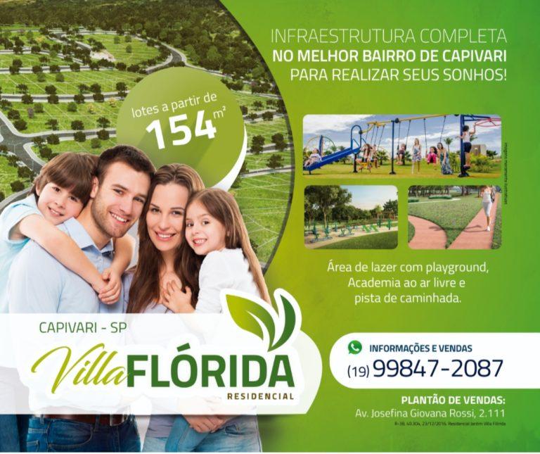 Residencial Villa Flórida: o local definido para a sua felicidade!