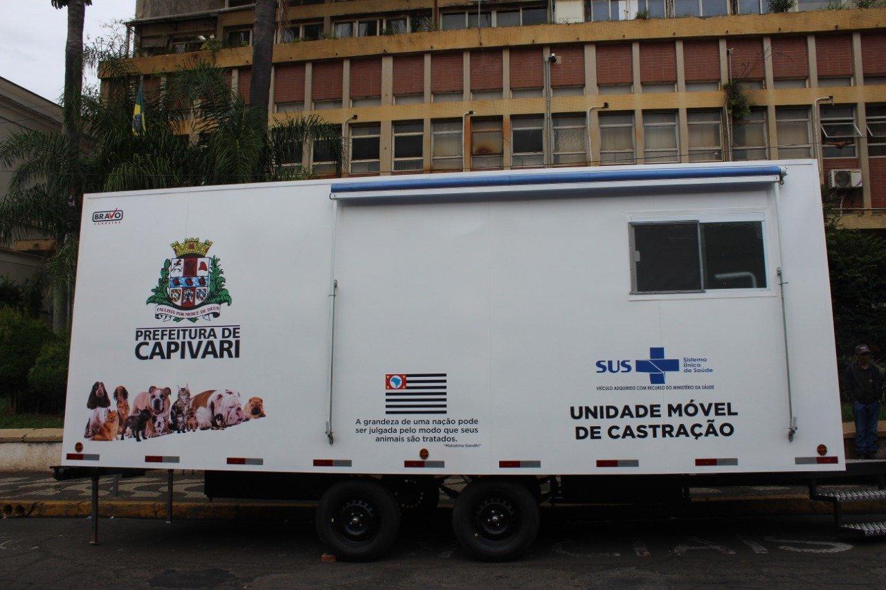Castramóvel será inaugurado no dia 9 de junho na praça central de Capivari