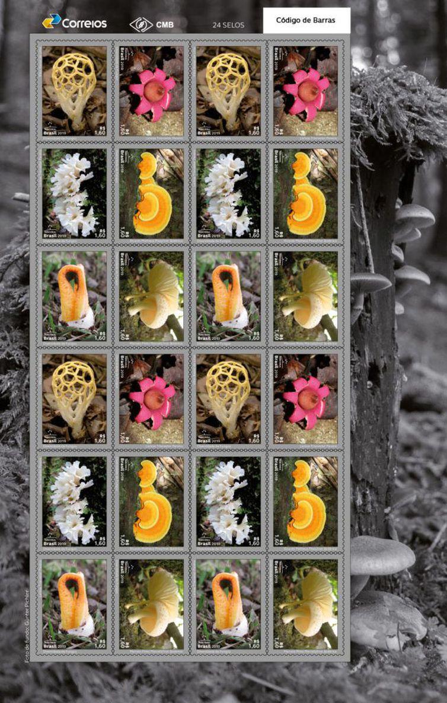 Dia Mundial do Meio Ambiente: Correios lançam selos com o tema fungos