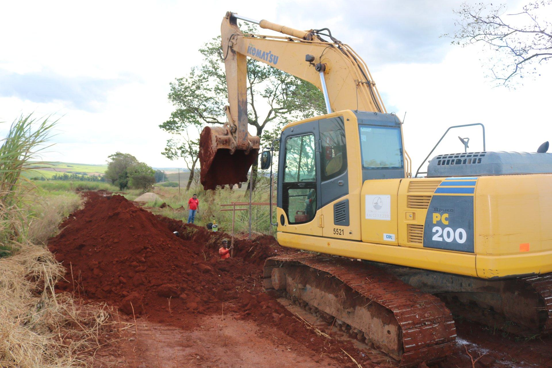 Prefeitura de Rafard dá início à construção da rede de esgoto no Distrito Industrial