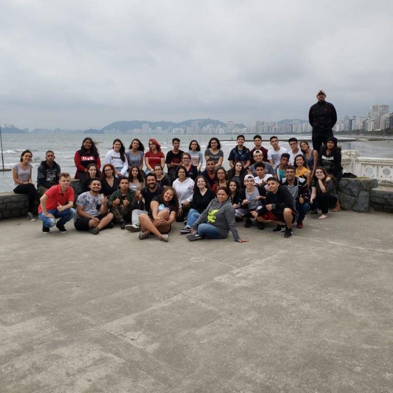Alunos da ETEC visitam a cidade de Santos