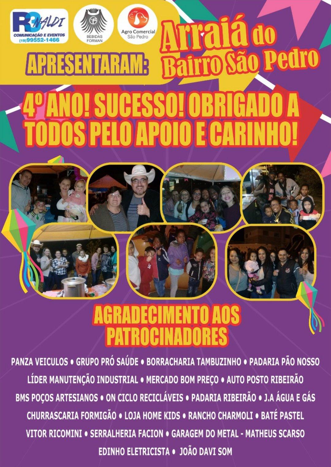 RADIALISTA E AMIGOS DO BAIRRO SÃO PEDRO REALIZAM PELO 4 ANO FESTA JULINA BENEFICENTE.