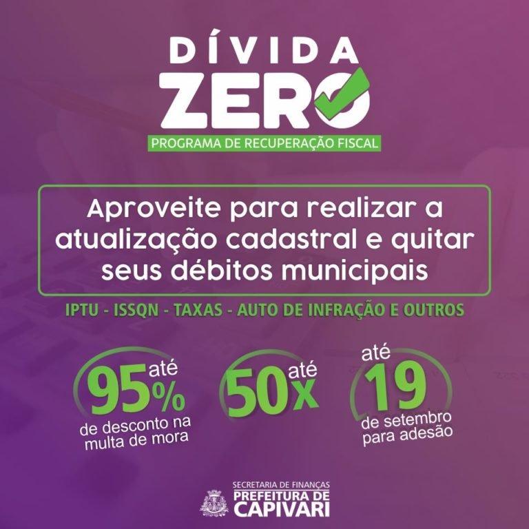 Dívida Zero: quite seus impostos que estão em atraso até 2018 com a cidade de Capivari