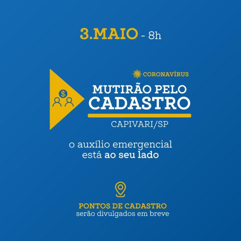 Voluntários de Capivari lançam Mutirão pelo Cadastro
