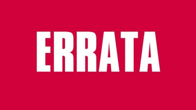 Errata – Edital Corporação Musical Euclydes Colaneri